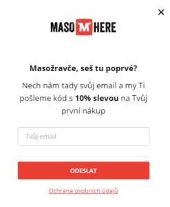 Sleva 10 % - Maso Here
